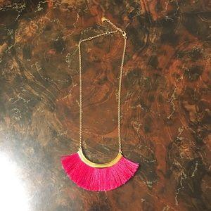 Stella & Dot Pink Tassel necklace